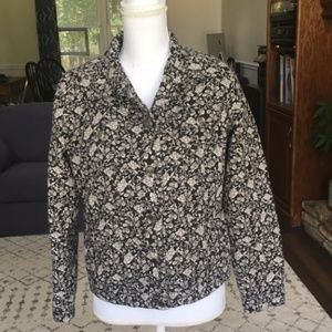 Charter Club Womens Jacket size Large Floral Print